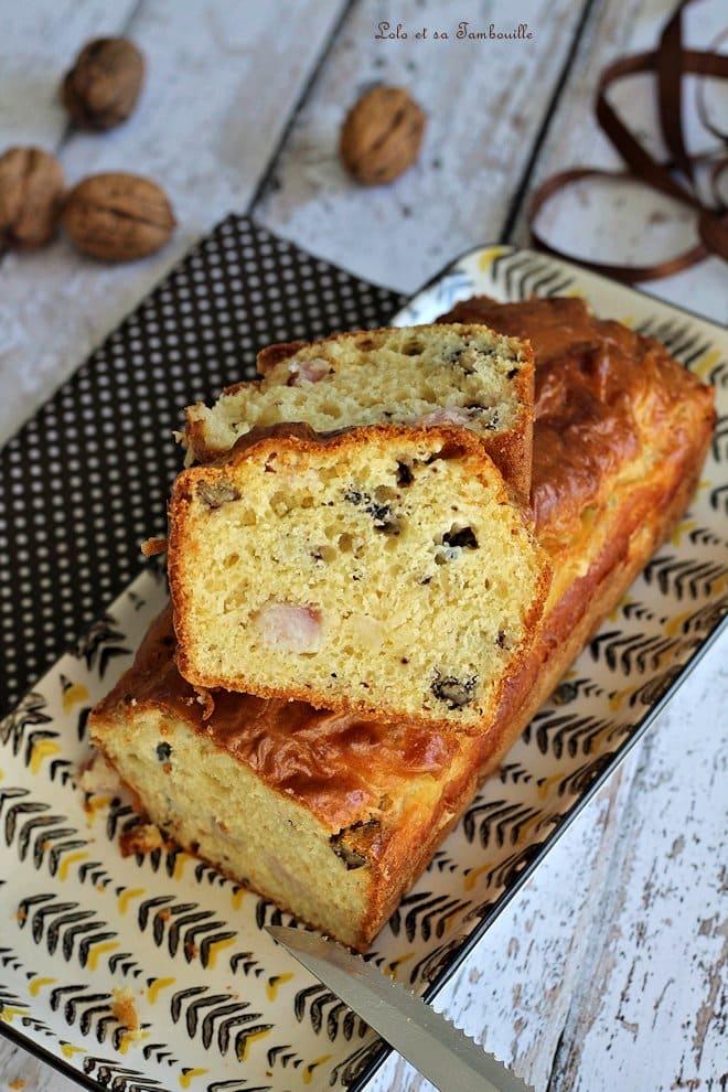cake salé, roquefort