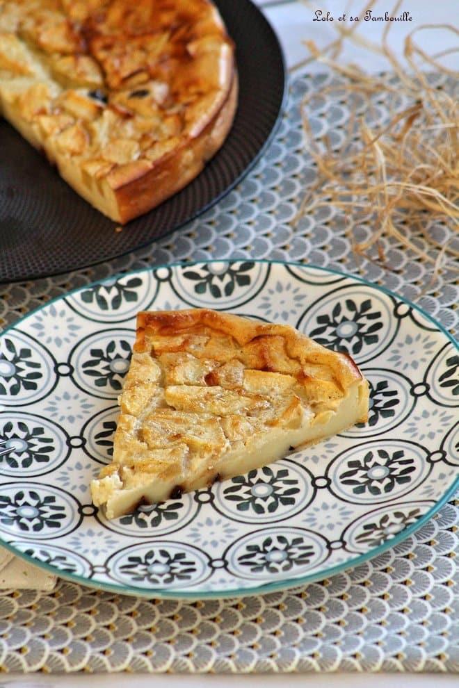 recette de clafoutis léger aux pommes