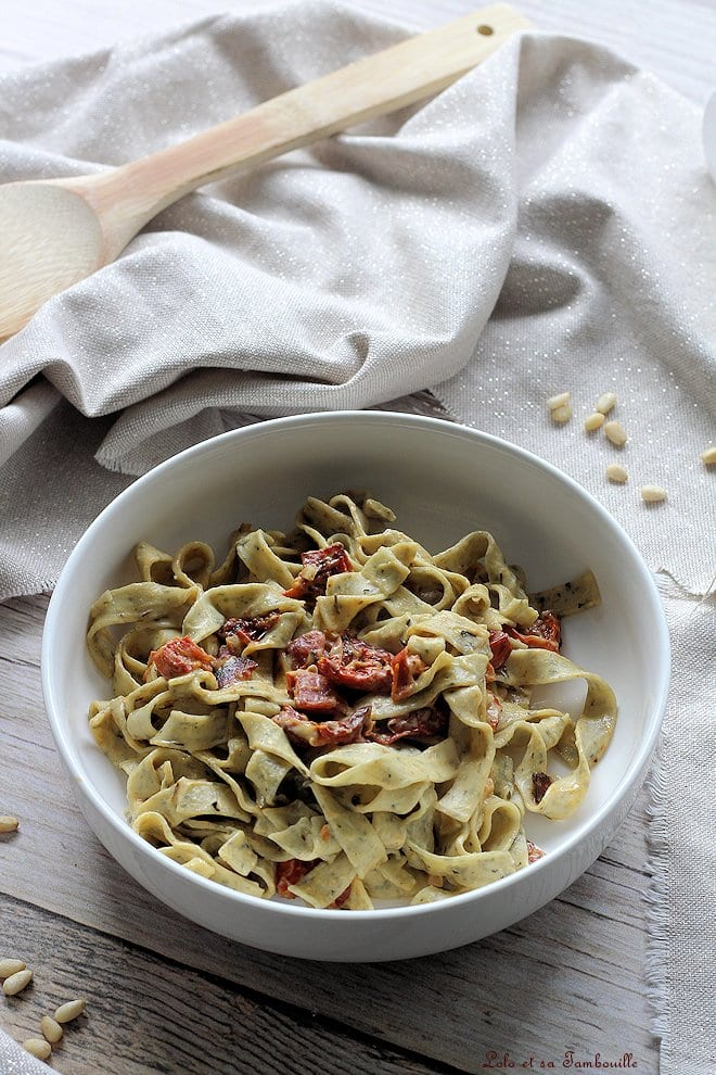 Pâtes aux tomates séchées & coppa