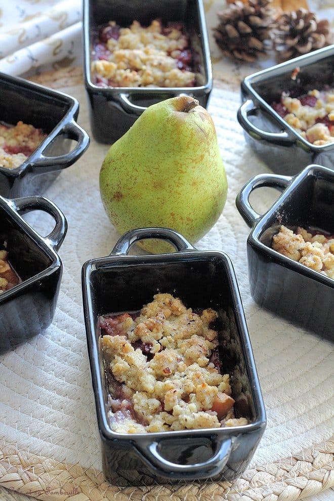 recette crumble poires framboises, recette crumble pommes poires framboises