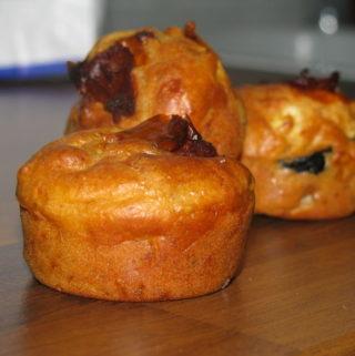 Muffins aux olives feta