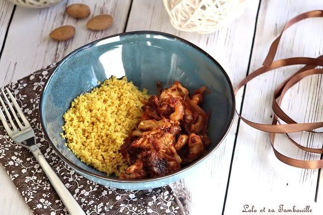 Poulet épicé aux noix de cajou,poulet épicé,recette poulet épicé mijoteuse