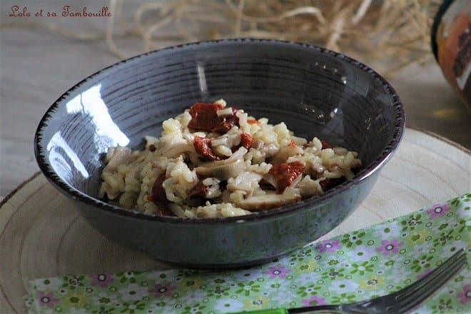 recette risotto aux champignons facile, recette risotto aux champignons de paris