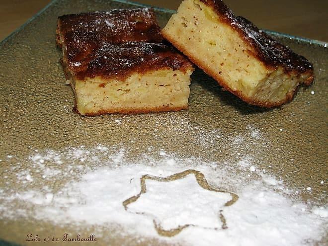 Gâteau-Clafoutis léger aux pommes & amandes