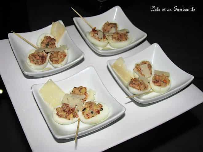 Oeufs de cailles mimosa