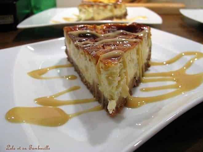 Cheesecake à la pomme & caramel au beurre salé