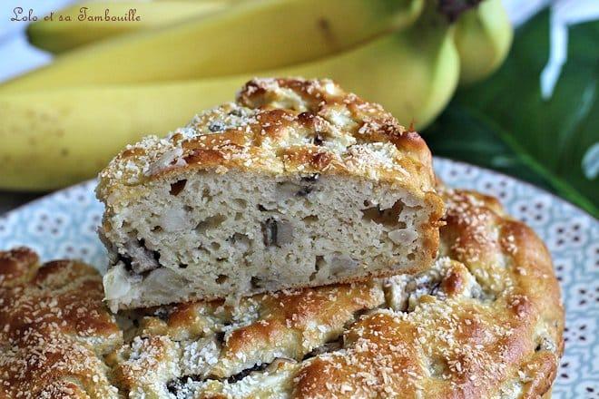 Gâteau moelleux bananes