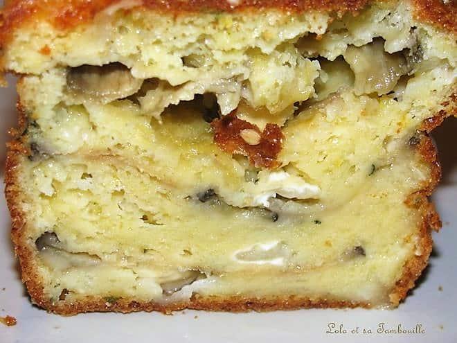 Cake aux aubergines grillées & fromage de chèvre