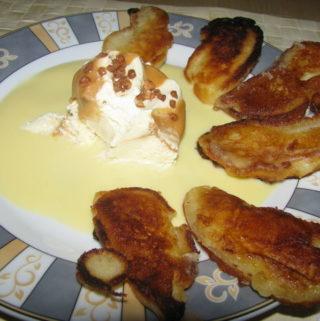 Lamelles de pommes en pancakes