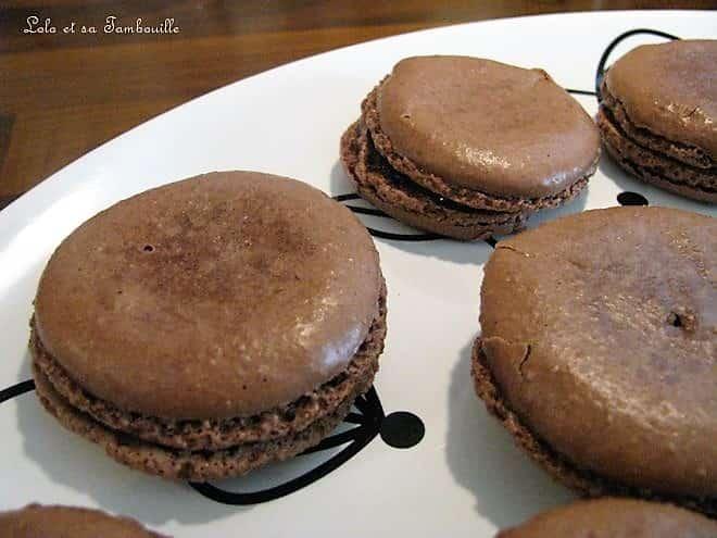 Macarons au chocolat arôme cerise