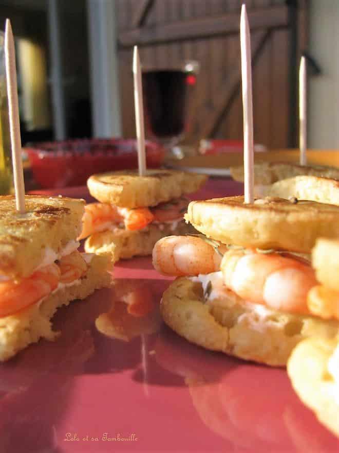 Sandwichs de blinis