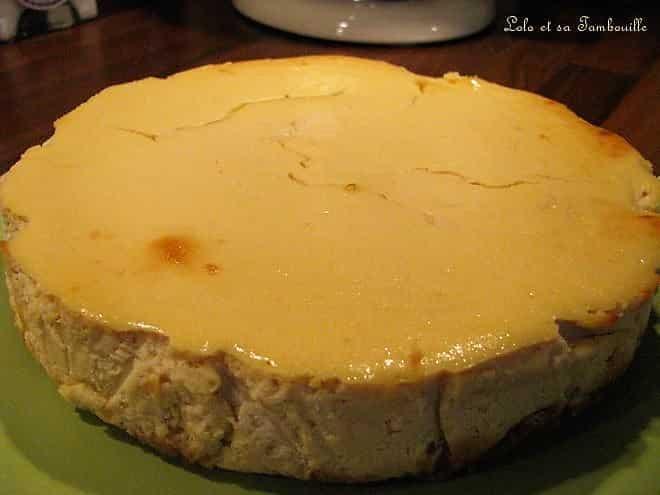 Cheesecake à la confiture de lait & éclats de caramels au beurre salé