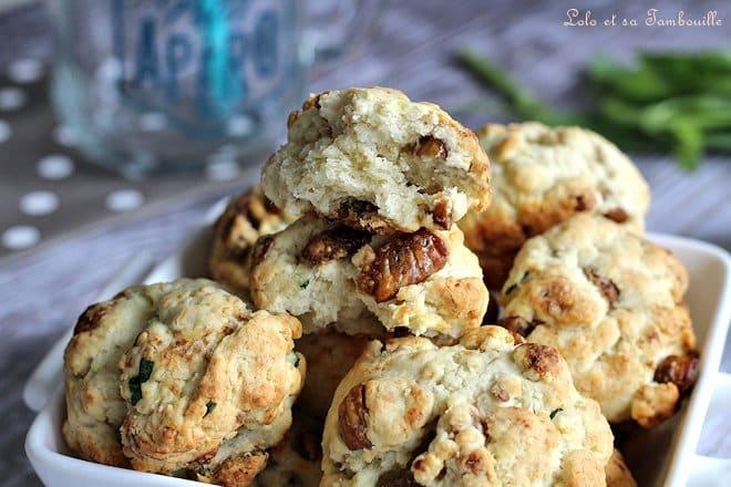 Cookies salés aux figues & parmesan