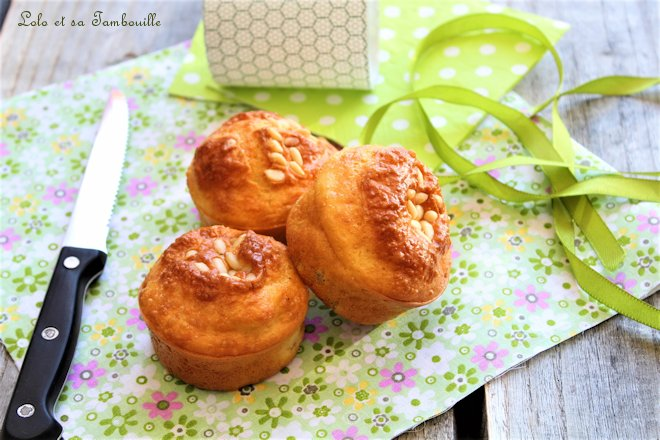 Muffins aux petits pois et carottes