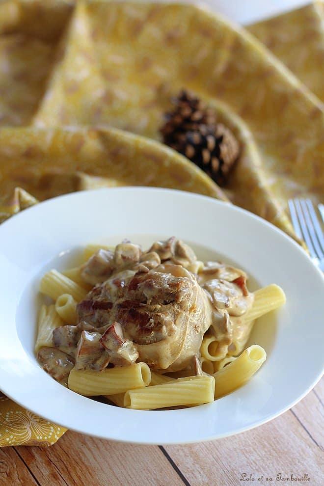 Paupiettes de veau aux lardons & champignons