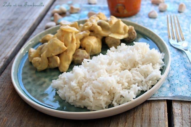 Émincés de poulet aux champignons {sauce moutarde au miel}
