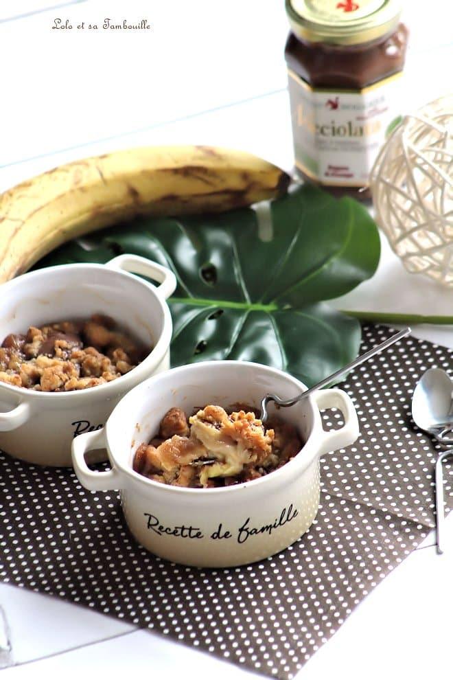 Crumble aux bananes & Nocciolata