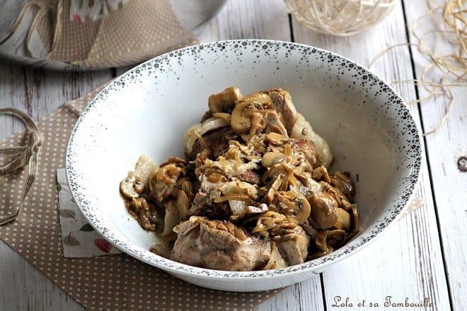 Rôti de veau aux champignons