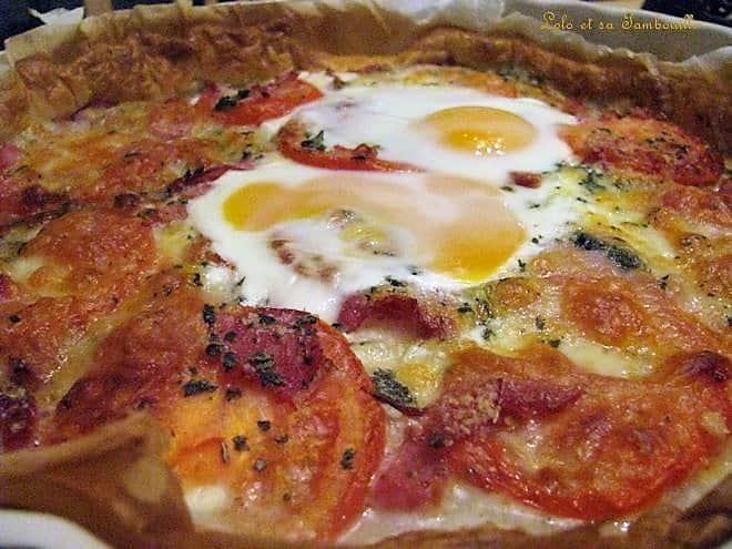 Tarte à la tomate express aux oeufs