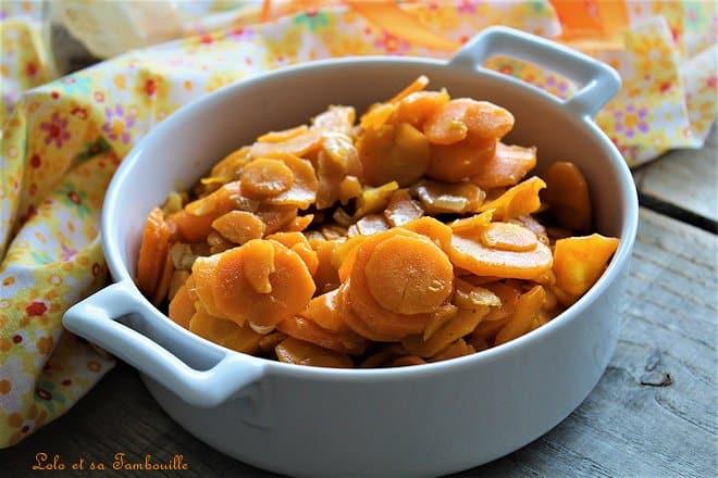 Carottes confites au miel & aux épices