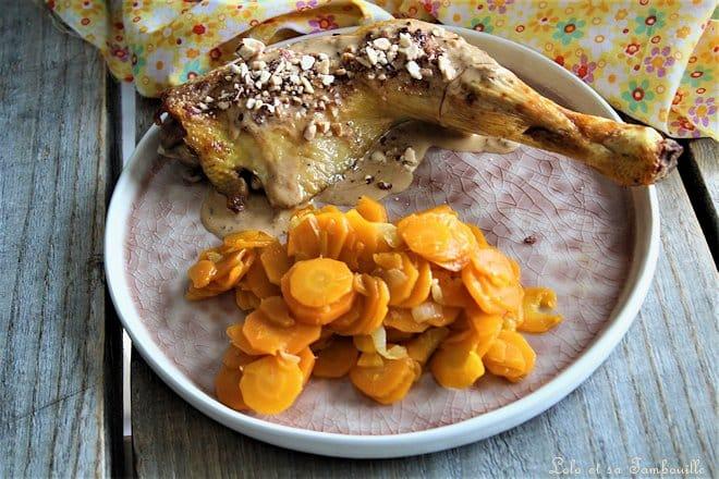 Poulet sauce miel & éclats d'amandes
