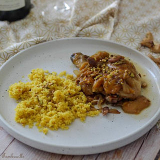 Tajine poulet fruits secs