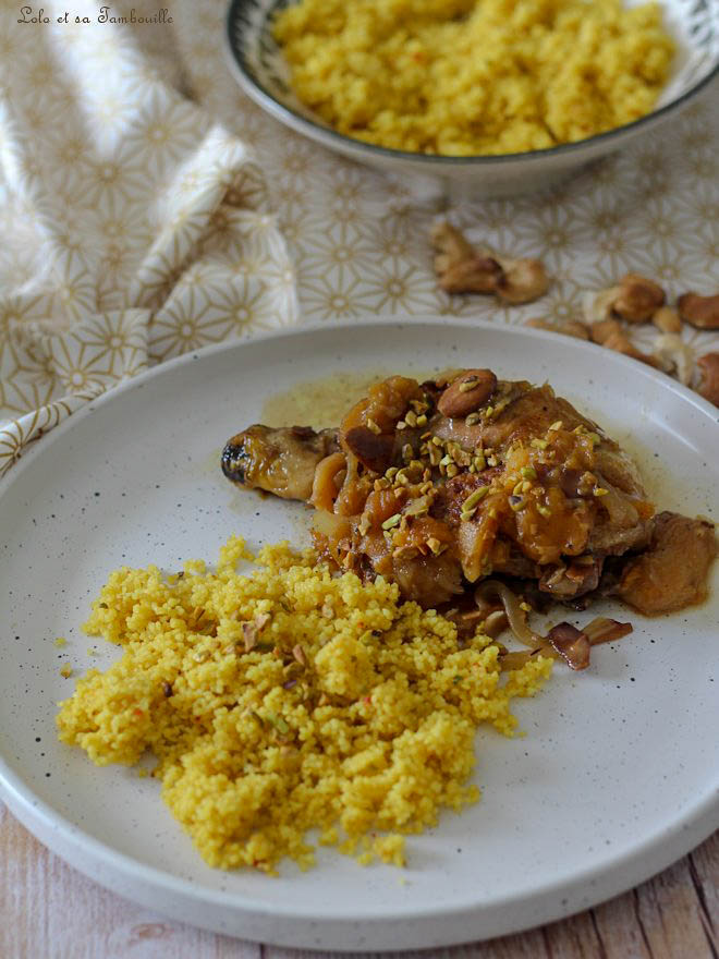 Tajine de poulet aux fruits secs