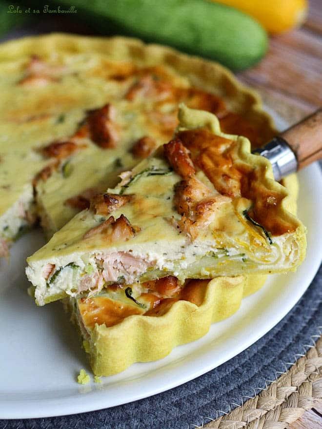 courgettes, saumon frais, repas du soir