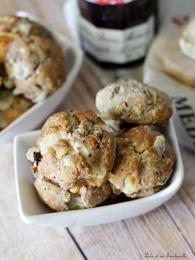 Cookies basques {fromage de brebis & confiture de cerises noires}