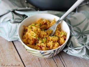 Riz pilaf chorizo safran