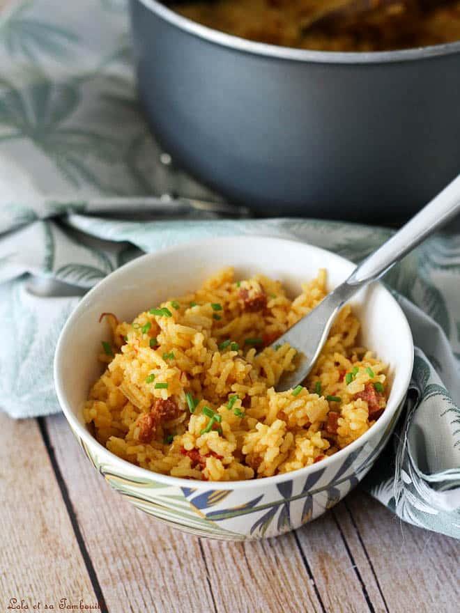 Riz pilaf au chorizo & safran