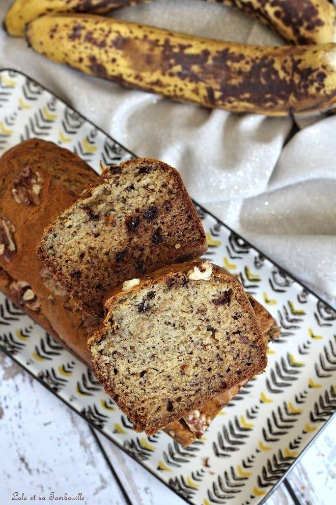 Banana bread {noix & pépites de chocolat}