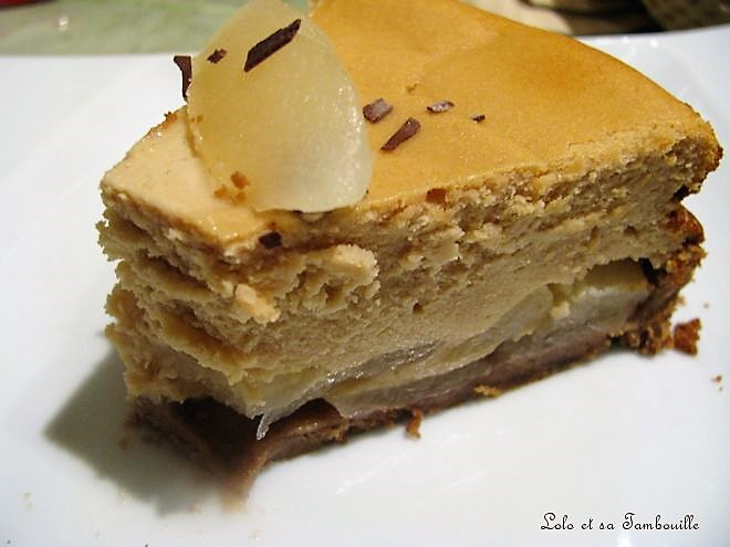 Cheesecake aux poires