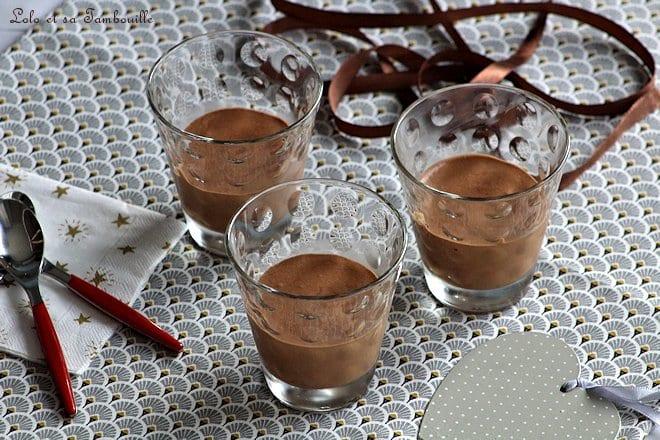 Mousse au chocolat caramel