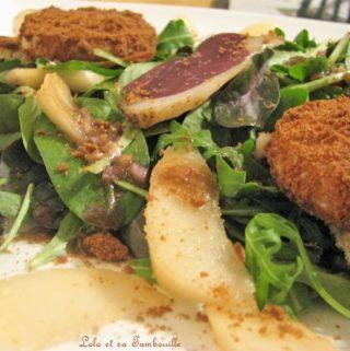 Salade aux poires