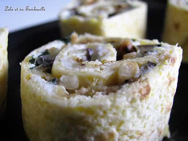 Makis aux aubergines grillées & fromage frais