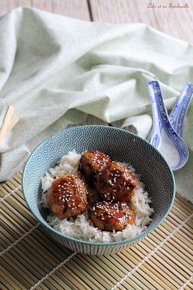 Boulettes de poulet à l'asiatique
