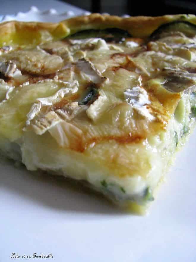 Tarte aux courgettes & trois fromages