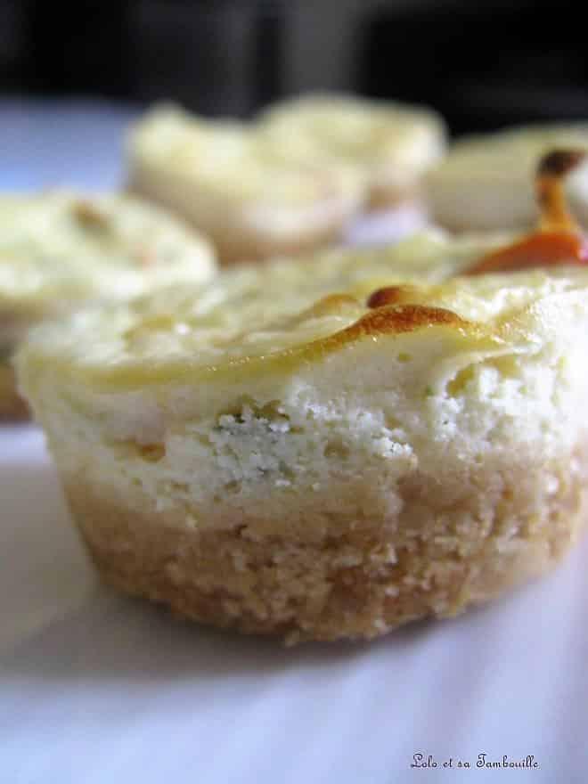 Mini cheesecakes aux poivrons grillés