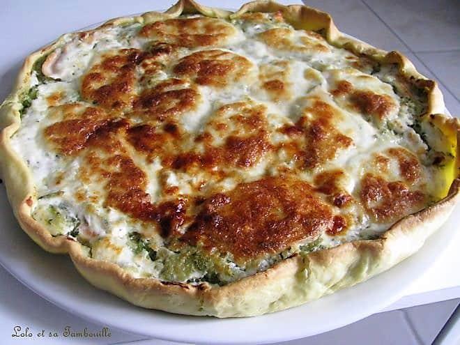 Tarte au saumon fumé, courgettes & mozzarella