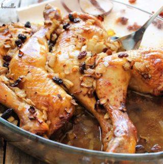 Cuisses de poulet au miel