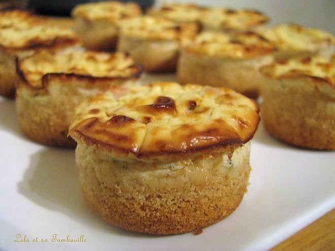 Mini cheesecakes aux tomates séchées