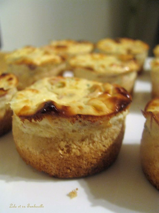 Mini cheesecakes aux tomates séchées & jambon