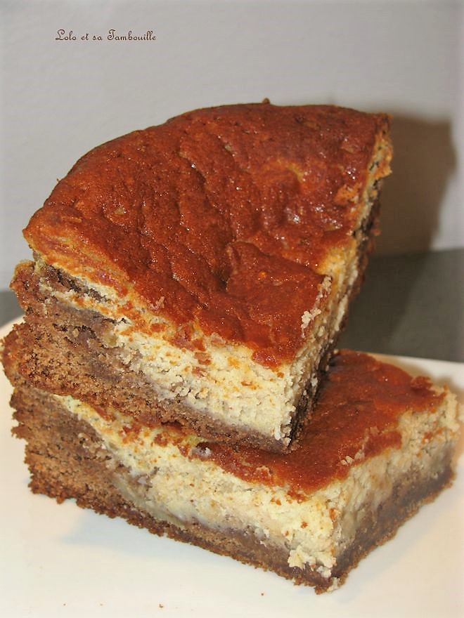 Brownies marbré à la pralinoise & mascarpone