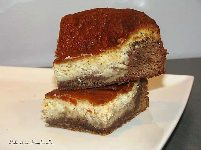 Brownies marbré à la pralinoise