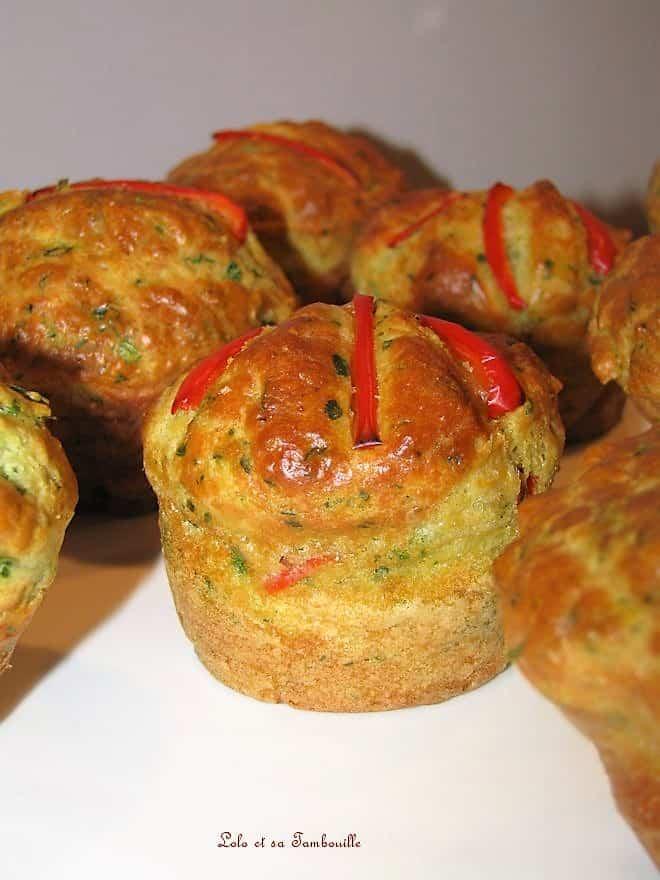 Cakes au persil & poivron rouge