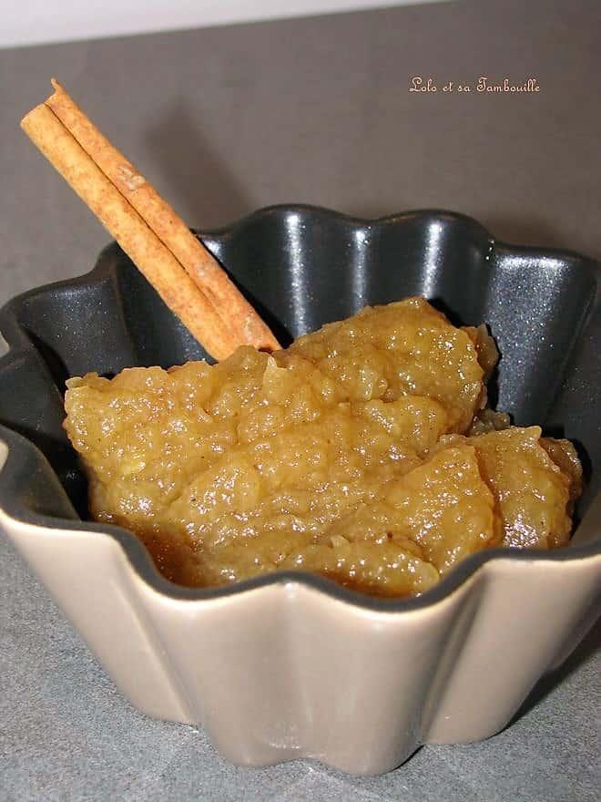 Compote de pommes {vanille & cannelle}