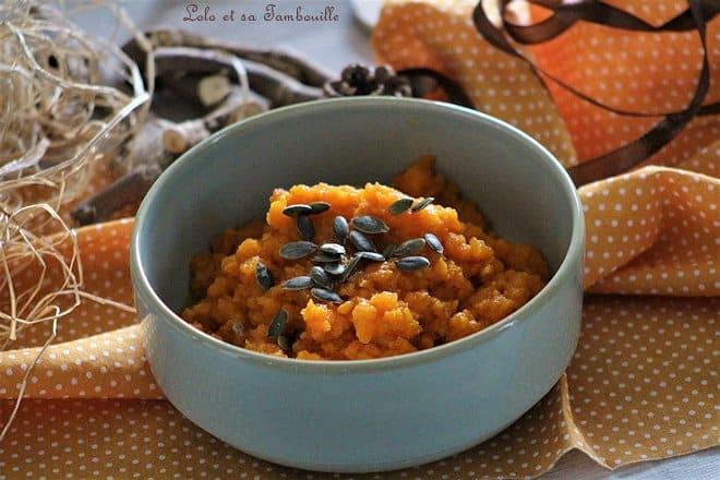 Purée de carottes au cumin