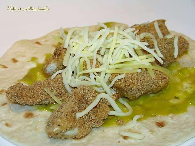 Crousti-burritos au poulet & guacamole