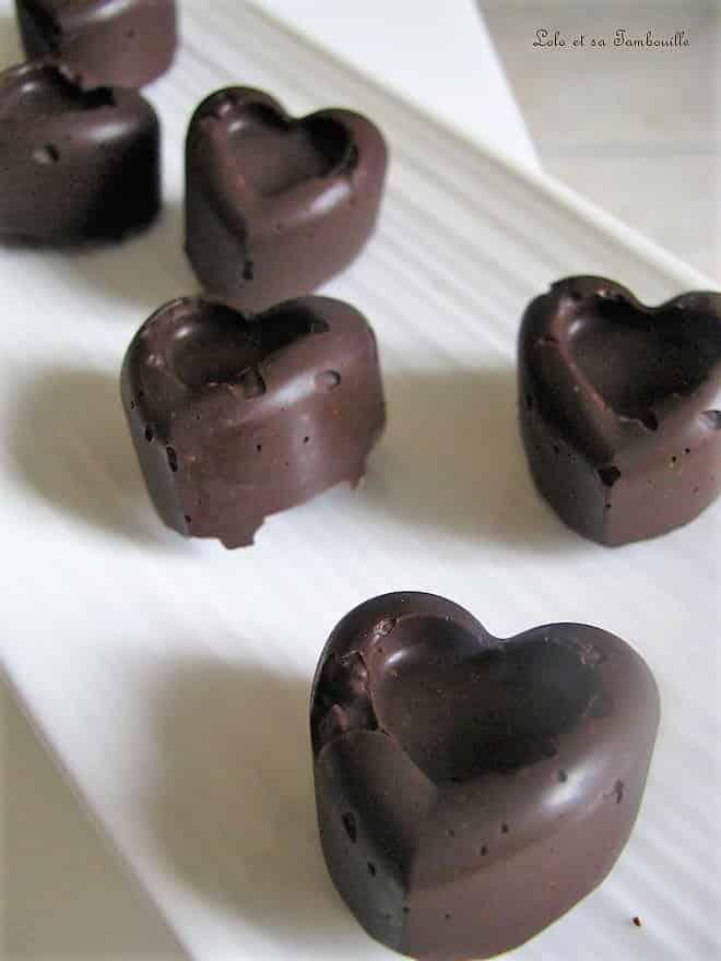Chocolats noirs aux spéculoos & gavottes